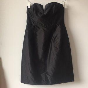 J.Crew Strapless Duponi Silk Cocktail Dress LBD